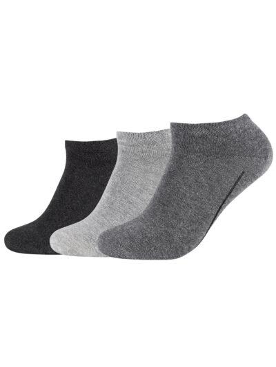 Camano Unisex ca-soft Sneakersocken 3 Paar Grau