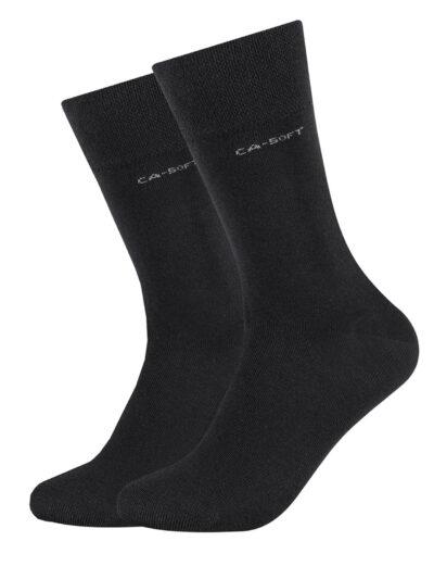 Camano Unisex Socken ca-soft im 2er-Pack Schwarz
