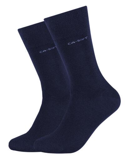 Camano Unisex Socken ca-soft im 2er-Pack Navy dunkelblau