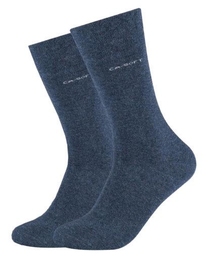 Camano Unisex Socken ca-soft im 2er-Pack Jeans Blau