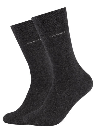 Camano Unisex Socken ca-soft im 2er-Pack Anthrazit Grau