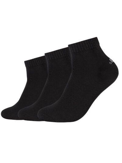 s.Oliver Unisex Sneaker Quarter Socken 3 Paar Schwarz