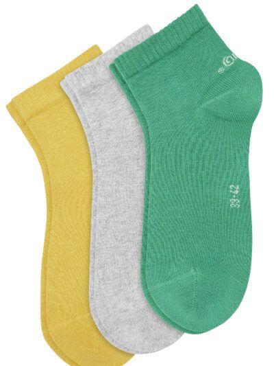 s.Oliver Quarter Sneaker Socken Unisex 3 Paar