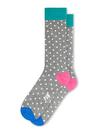 Fun Socks Micro Dot Herren Socken Grau Gepunktet