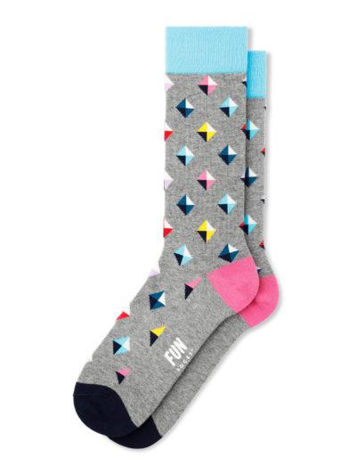 Fun Socks Stud Geo Herren Socken Grau-Blau