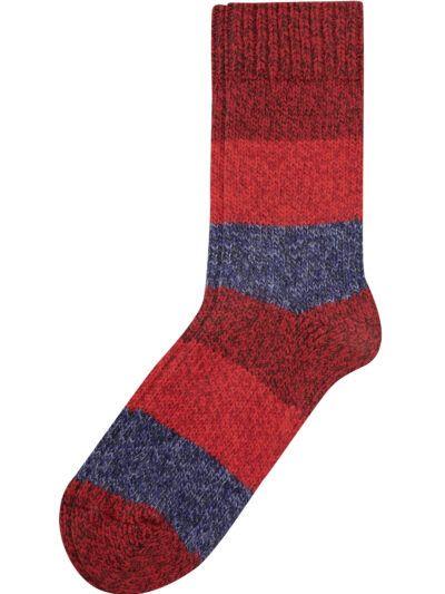 Camano Unisex Nordic Socken Rot Meliert