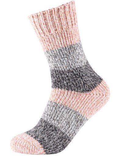 Camano Damen Nordic Socken Rosa Meliert
