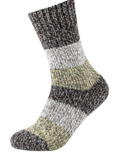Camano Unisex Nordic Socken Grün Meliert