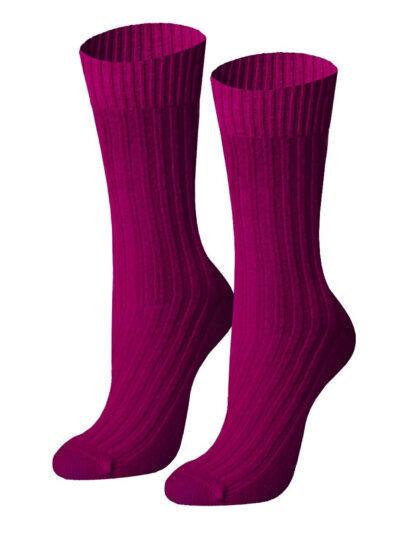 von Jungfeld Lambada Burgund Merinowolle Damen Socken