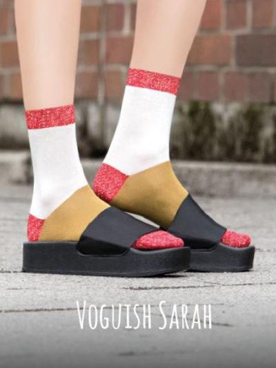 "Too Hot To Hide Socken ""Voguish Sarah"" Colour-Blocking"