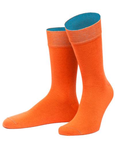 von Jungfeld Thrakien Orange Herren Socken