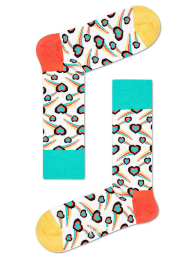 Happy Socks Shooting Heart Socken