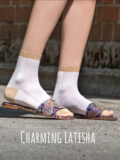 "Too Hot To Hide Socken ""Charming Latisha"" Ivory"