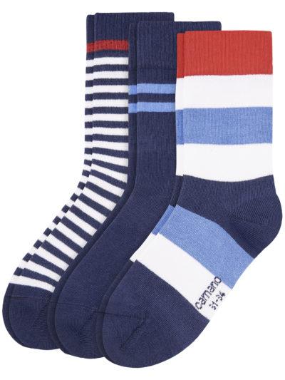 Camano Kinder Socken Gestreift 3er-Pack