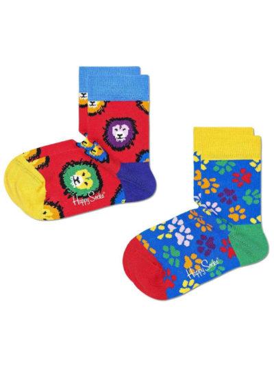 Happy Socks Lion Paw Kindersocken mit Löwen & Pfote