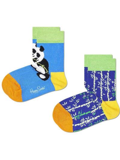 Happy Socks Panda Bambu Kindersocken Zweierpack