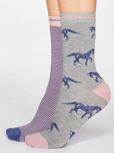 Thought Socken Luna Horse Pferde Motiv 2er-Pack