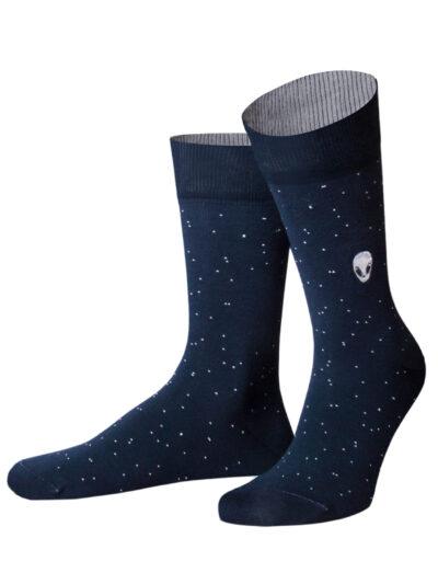 von Jungfeld Alien Socken Dunkelblau Weltall