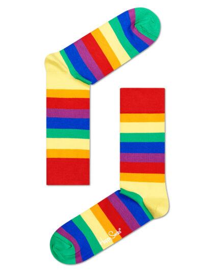 Happy Socks Buntgestreift Stripe Socken Pride