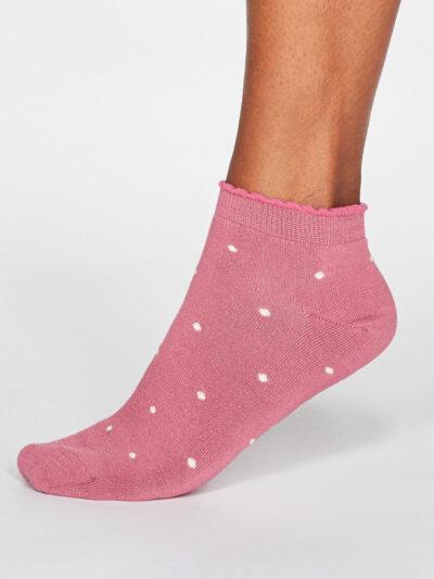 Thought Socken Eudora Spot Sneakersocken Rüschenbund