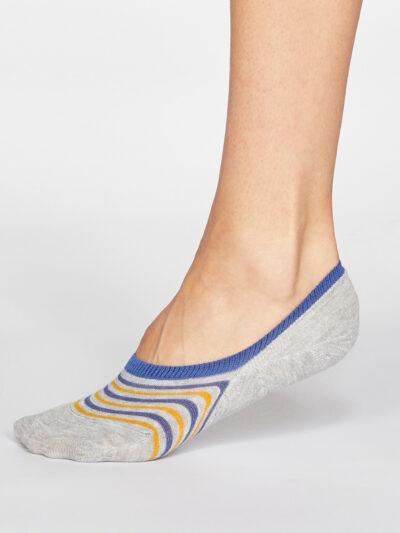 Thought Füßlinge Kris Stripe Invisible Socken Grau