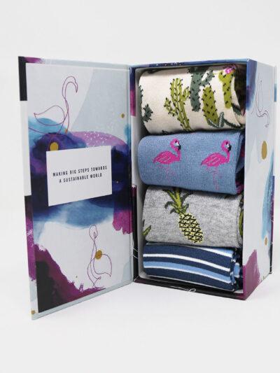 Thought Nettie Summer Socken 4 Paar Geschenk Box