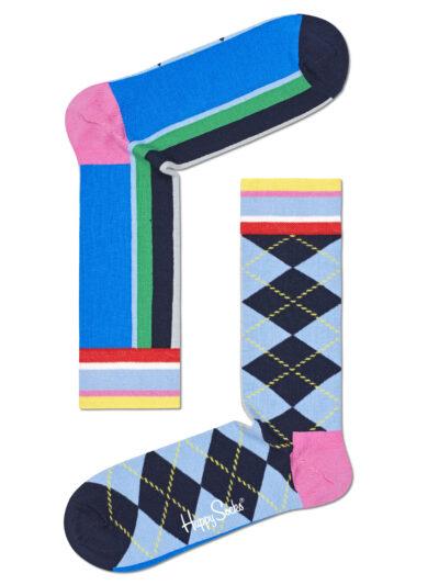 Happy Socks Socken Half/Half Argyle and Stripe