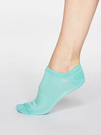 Thought Peggy Stripe Sneakersocken Trainer Socken
