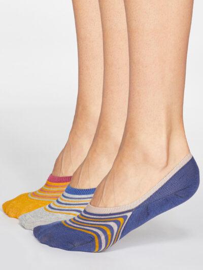 Thought Füßlinge Invisible Socken Kris Stripe 3 Paar