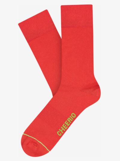 Cheerio Socken Best Friend 2er Pack Rot Bio-Baumwolle