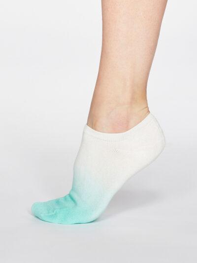 Thought Dip Dye Sneakersocken Trainer Socken Jade Mint