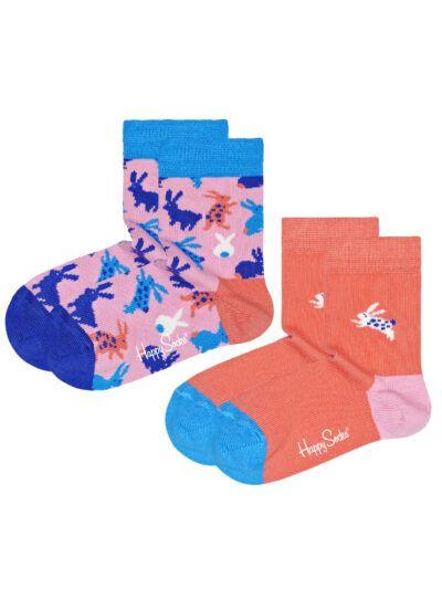 Happy Socks Bunny Hasen Kindersocken im 2er Pack