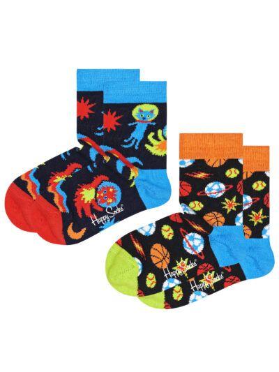Happy Socks Spacetime Kindersocken 2 Paar