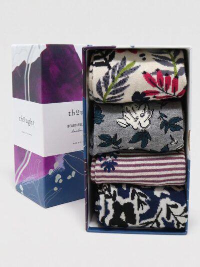 Thought Rasmine Socken Floral 4 Paar Geschenkbox