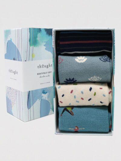 Thought Mornie Yogi Socken 4 Paar Geschenkbox