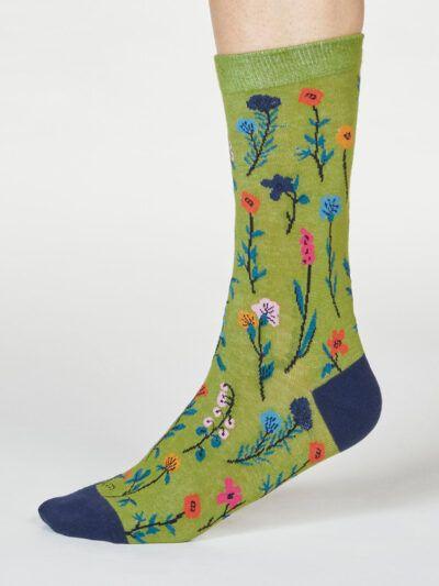 Thought Mondie Bambussocken Blumenmuster Floral-Design