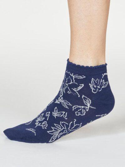 Thought Gollie Floral Quarter Rüschenbund Socken