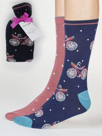 Thought Velma Socken Nostalgie Fahrrad im Geschenkbeutel