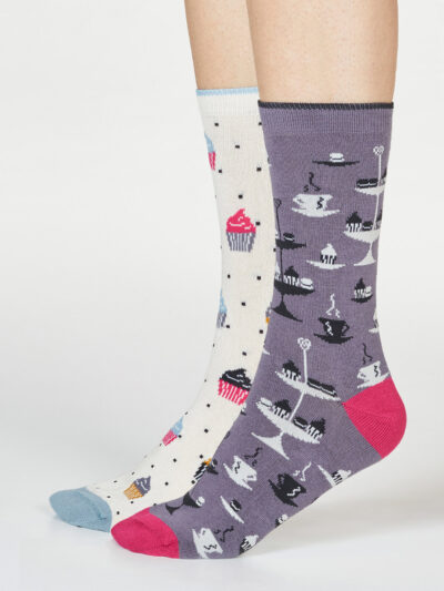 Thought Afternoon Tea Socken Delphie Etagere 2er-Pack