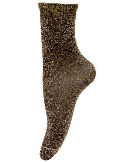 Unmade Copenhagen Socken Stardust Braun Glitzersocken
