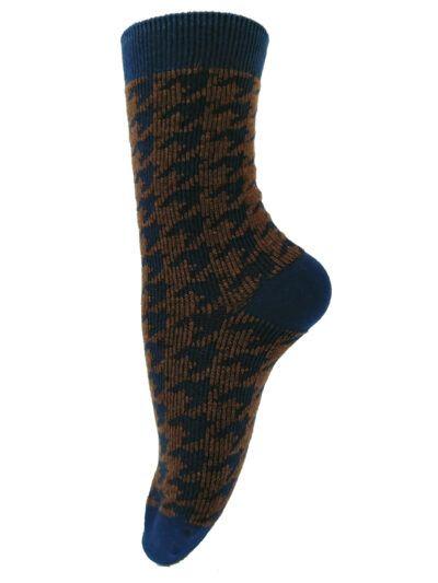 Unmade Copenhagen Anouk Navy Blue Socken Glitzerbund
