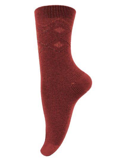 Unmade Copenhagen Socken Magali Rust Glitzer-Design