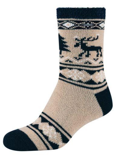 Camano Norweger Cosy Socken mit Christmas Elch