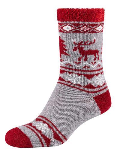 Camano Cosy Norweger Socken mit Christmas Elch