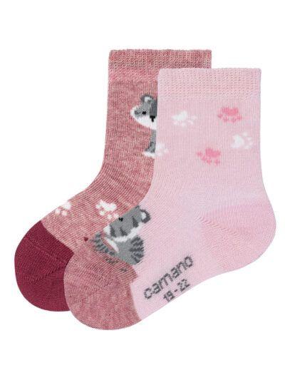 Camano Kinder Baby Katzen Socken im 2er Pack