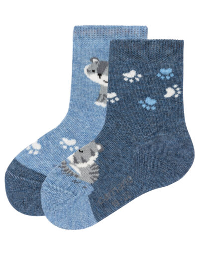 Camano Baby Kinder Katzen Socken im 2er Pack