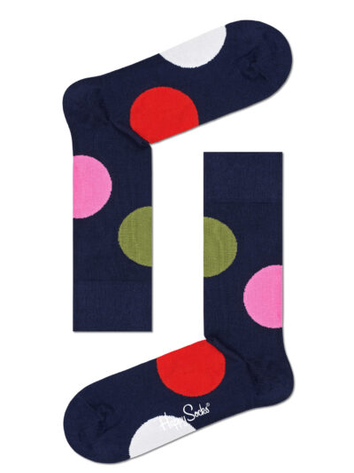Happy Socks Jumbo Dot Socken Dunkelblau mit Punkten