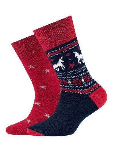 Camano Einhorn Pferd Motiv Kinder Socken im 2er-Pack