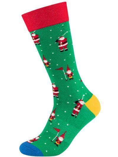 Fun Socks Weihnachtssocken Golf Motiv Socken